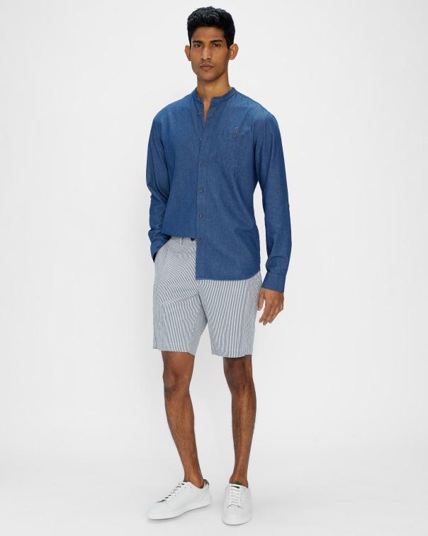 테드 베이커 Ted Baker White and blue stripe short