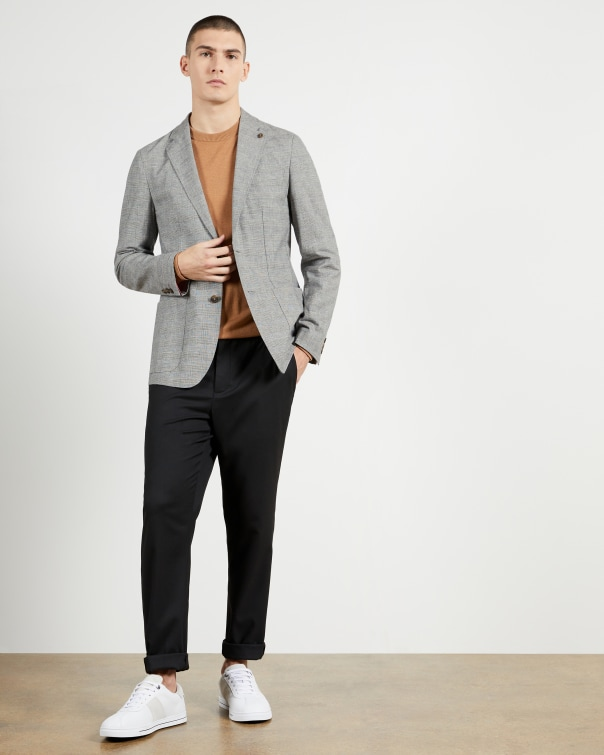 테드 베이커 Ted Baker POW Check Blazer,charcoal