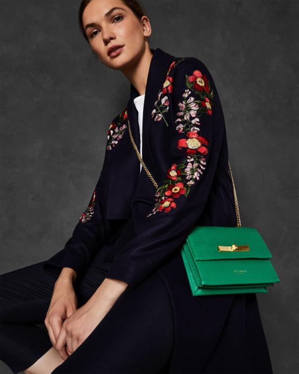 테드 베이커 Ted Baker Kirstenbosch wool kimono coat,dark blue