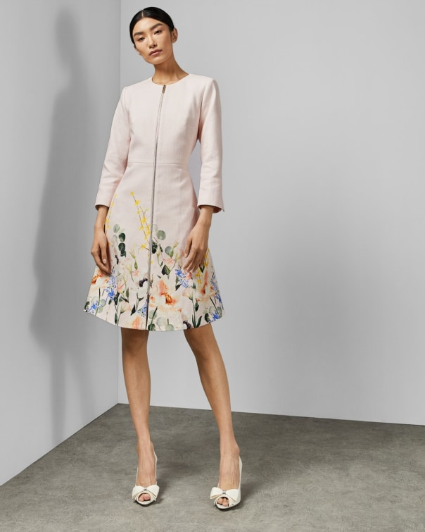 테드 베이커 Ted Baker Elegant textured dress coat,pink