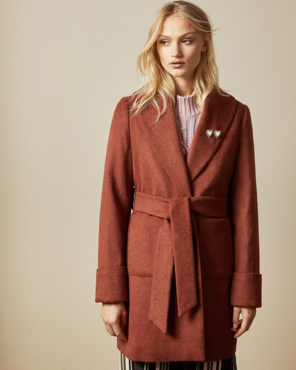 테드 베이커 Ted Baker Short wrap coat,orange