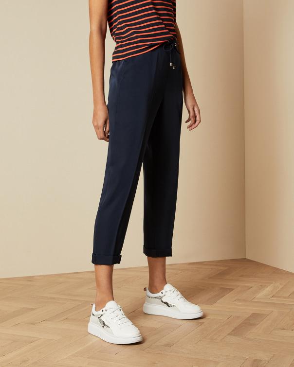 테드 베이커 Ted Baker Elasticated waistband cropped trousers,dark blue