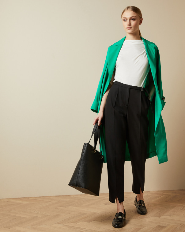 테드 베이커 Ted Baker Belt detail tailored trousers,black
