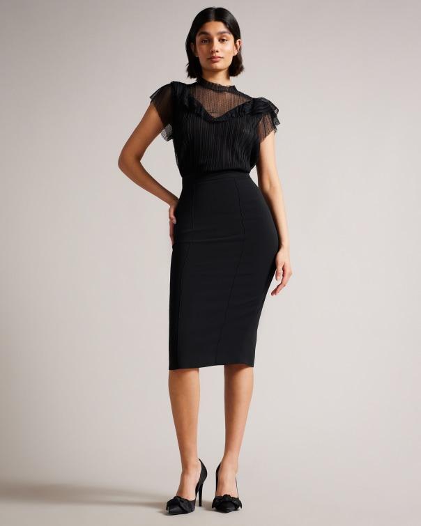 테드 베이커 Ted Baker Pencil skirt,black