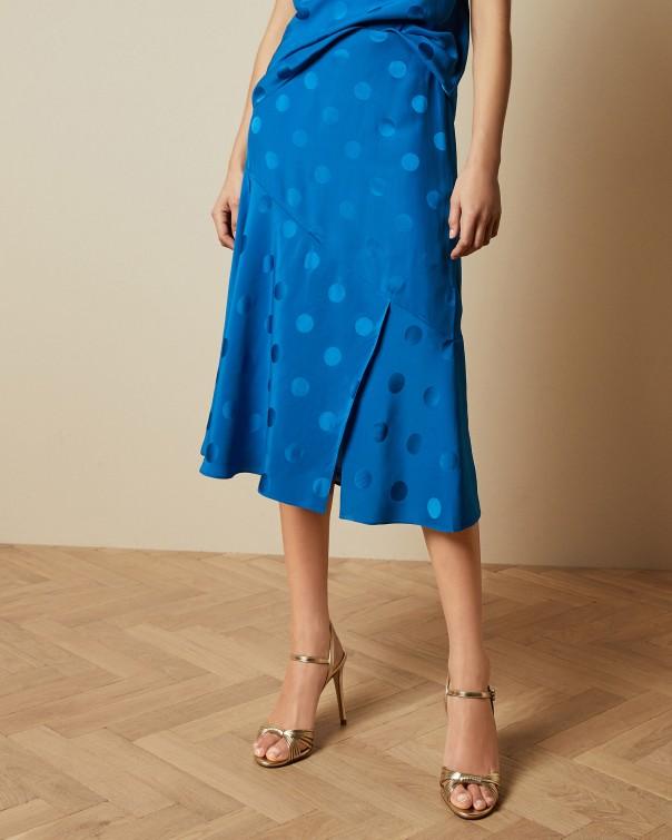 테드 베이커 Ted Baker Polka dot midi skirt,bright blue