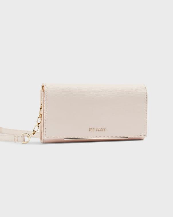 테드 베이커 Ted Baker Leather clutch purse,light pink