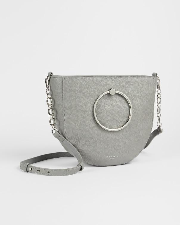 테드 베이커 Ted Baker Circular handle medium shoulder bag,grey
