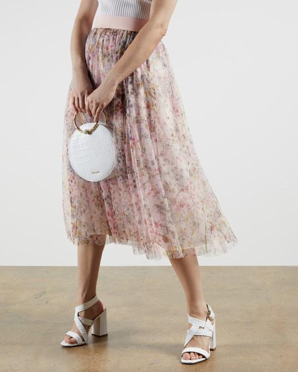 테드 베이커 Ted Baker Jasmine tulle skirt,dusky pink