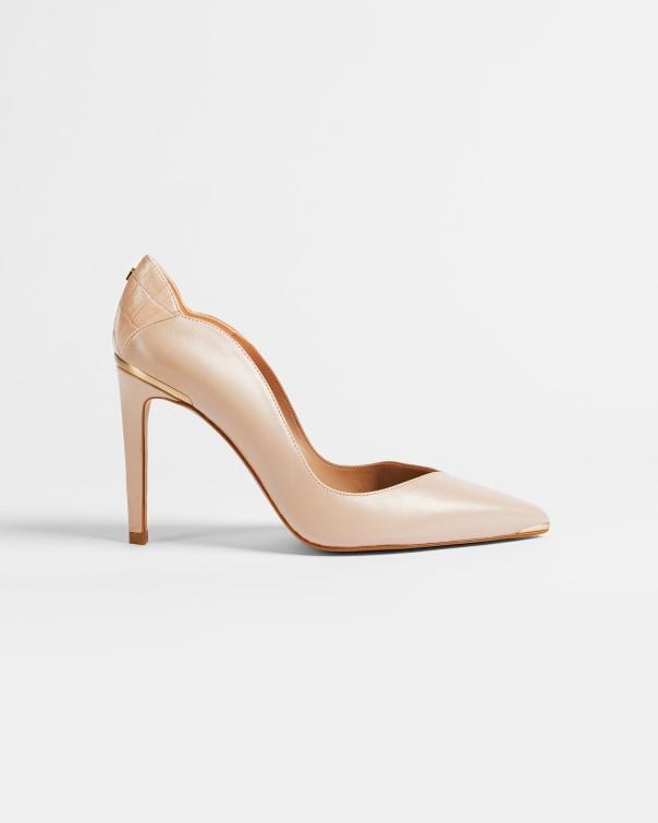 테드 베이커 Ted Baker Leather stiletto court shoes,pink