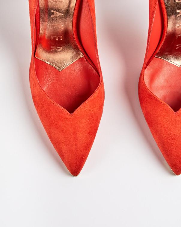 테드 베이커 Ted Baker Scalloped high heel court shoes,orange