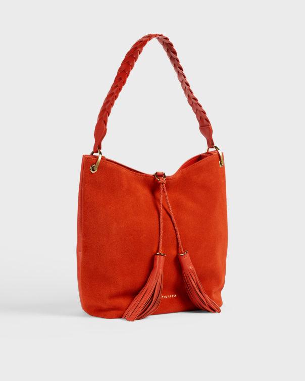 테드 베이커 Ted Baker Braided strap hobo bag,orange