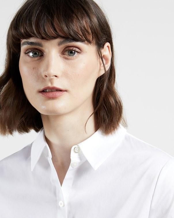 테드 베이커 Ted Baker Cotton oversized shirt,white