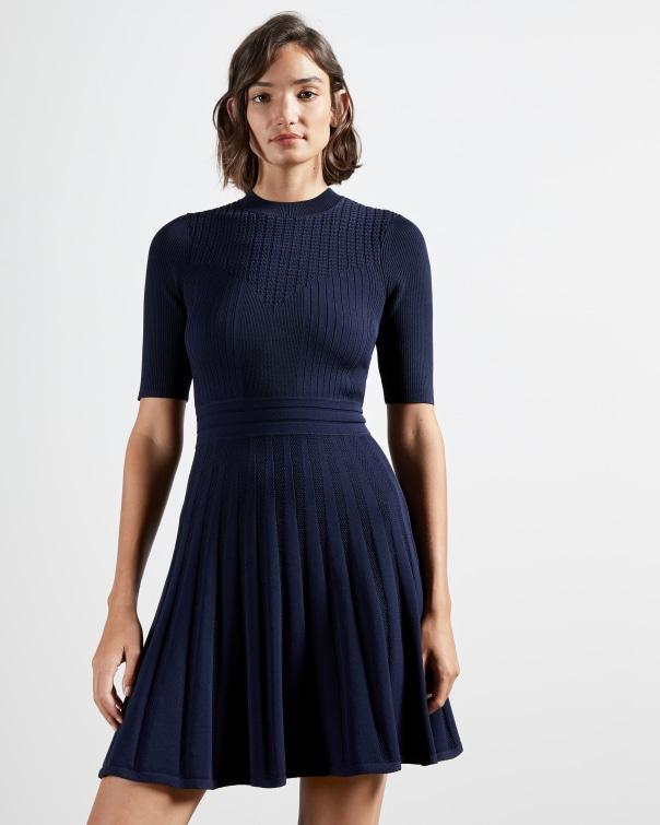 테드 베이커 원피스 Ted Baker Stitch detail skater dress,navy