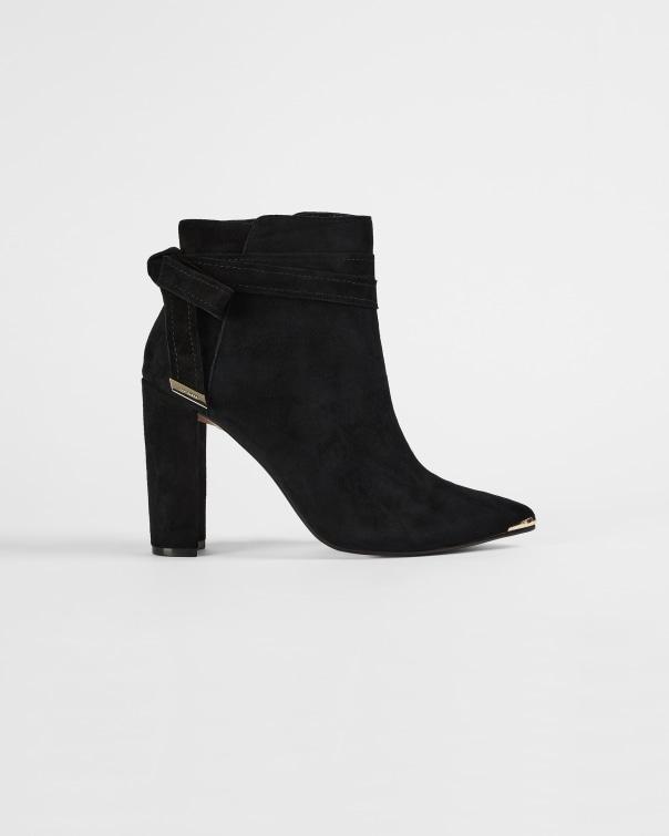 테드 베이커 Ted Baker Bow detail heeled boots,black