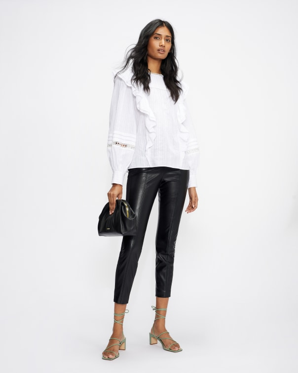테드 베이커 Ted Baker Faux leather leggings,black
