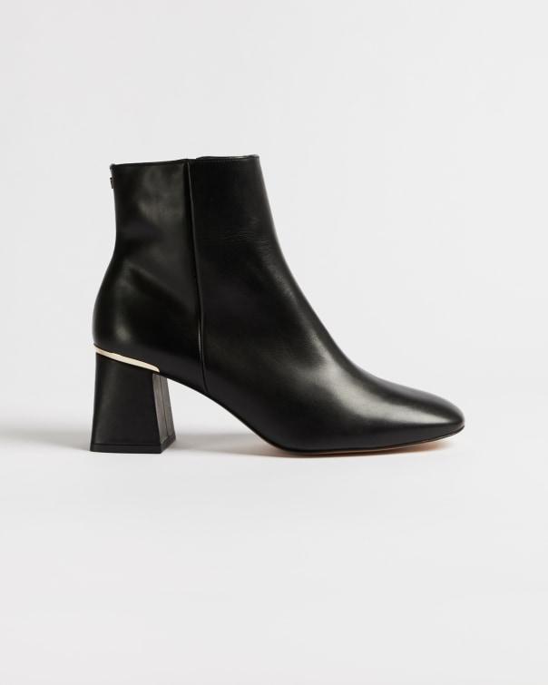 테드 베이커 스퀘어 토 블록 힐 부츠 Ted Baker Square toe block heel boots,black