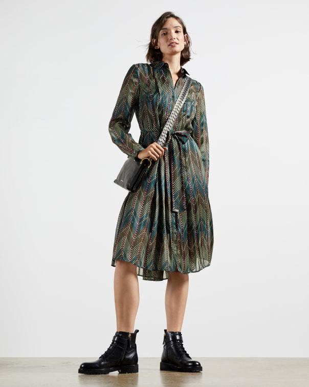 테드 베이커 원피스 Ted Baker Cardamon shirt dress,khaki