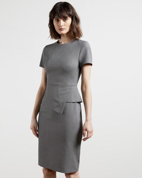 테드 베이커 원피스 Ted Baker Tailored asymmetric dress,grey