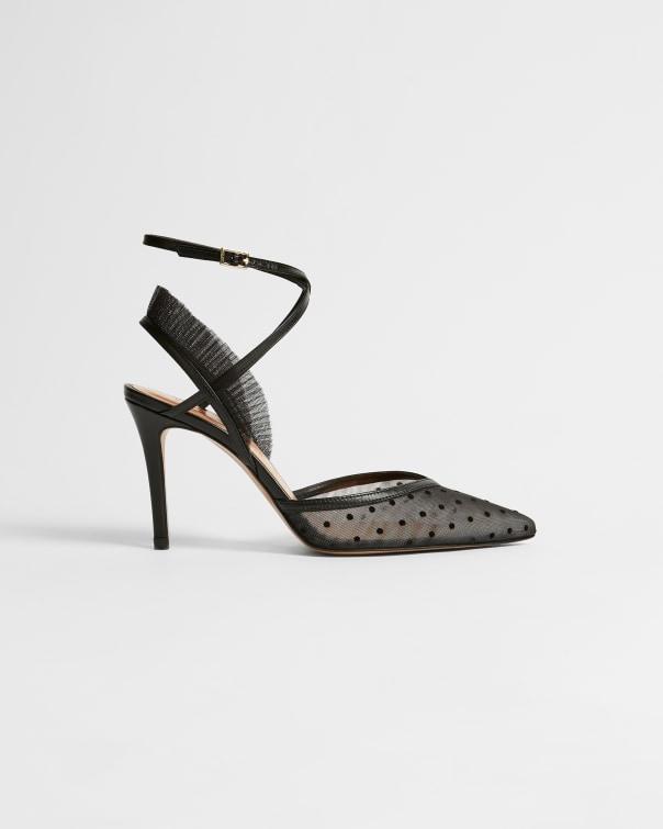 테드 베이커 Ted Baker Polkadot mesh stiletto heels,black