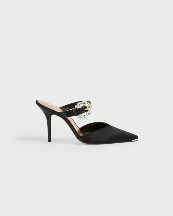 테드 베이커 뮬 샌들 Ted Baker Embellished buckle mule court shoe,black