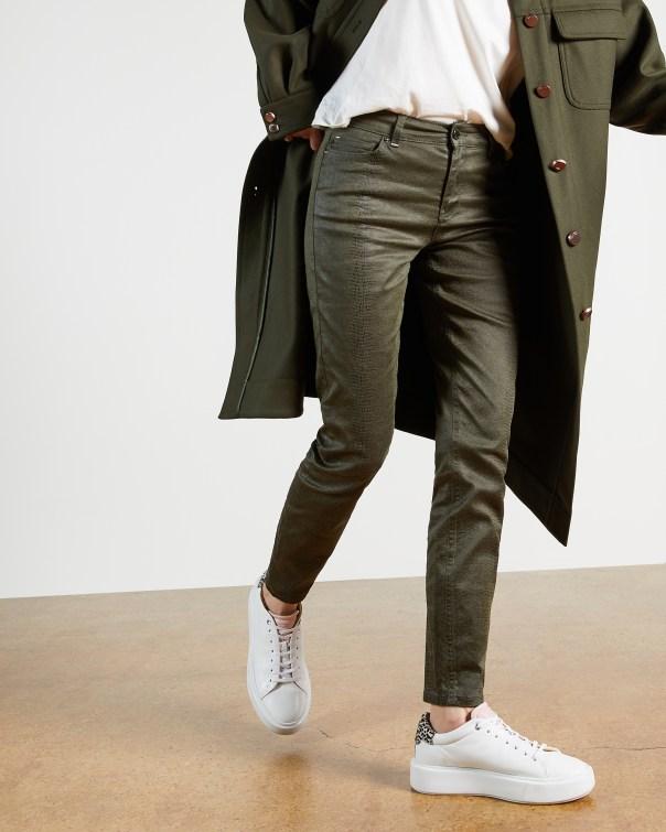 테드 베이커 Ted Baker croc effect skinny jean,khaki