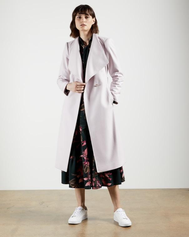 테드 베이커 Ted Baker Wool wrap coat,dusky pink