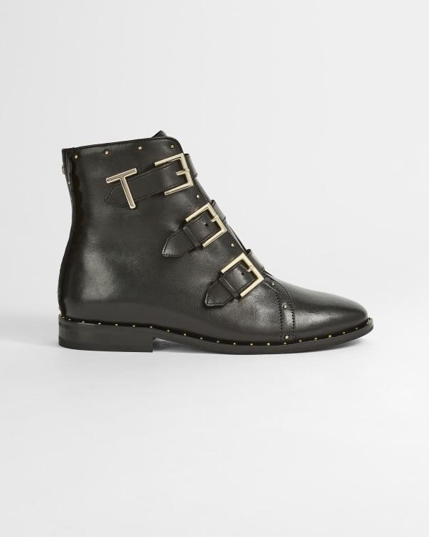 테드 베이커 Ted Baker Triple buckle biker boot,black