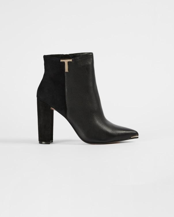 테드 베이커 Ted Baker T detail leather boot,black