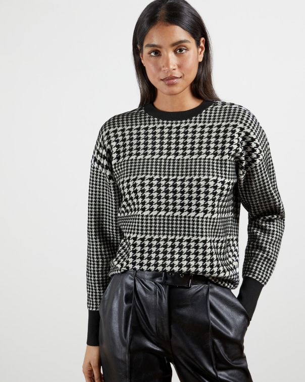 테드 베이커 스웨터 Ted Baker Houndstooth sweater,black