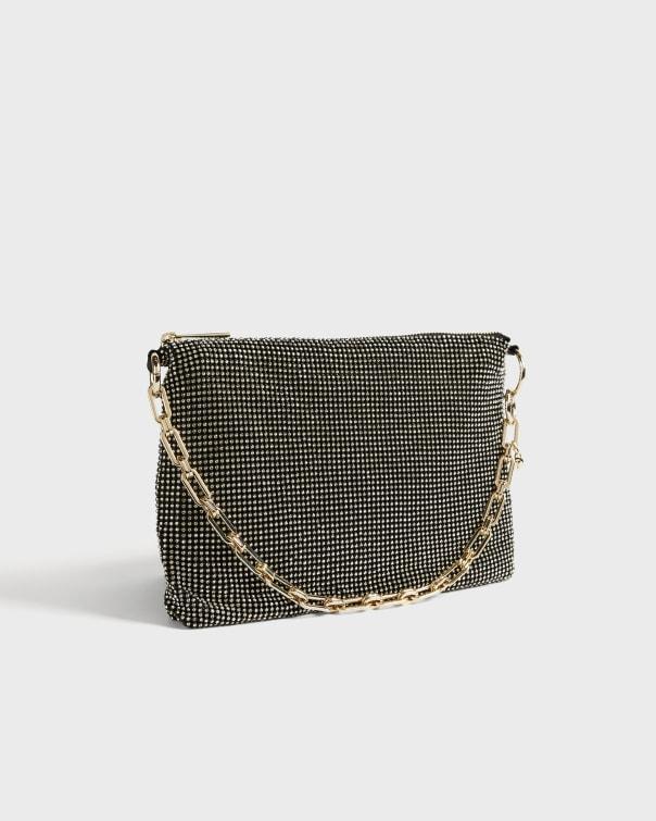 테드 베이커 Ted Baker Slinky Shoulder Evening Bag,black