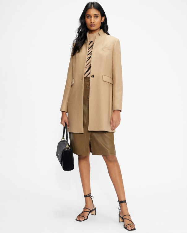테드 베이커 코트 Ted Baker Straight tailored coat,camel