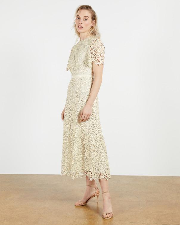 테드 베이커 원피스 Ted Baker Midi Lace Dress,natural