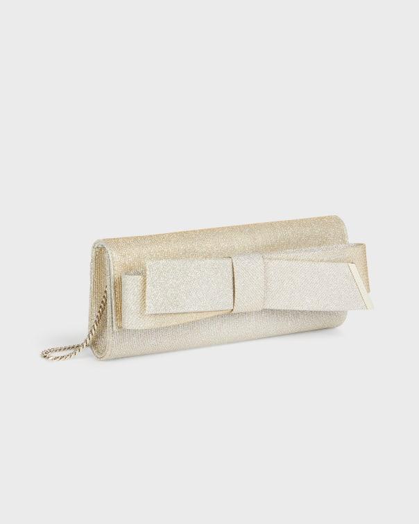 테드 베이커 Ted Baker Bow Evening Bag,gold