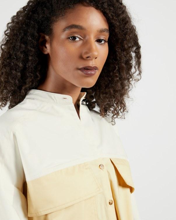 테드 베이커 원피스 Ted Baker Cotton Shirt Dress,stone