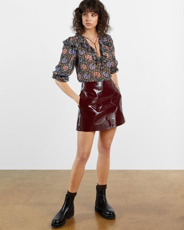 테드 베이커 Ted Baker Mini Skirt,maroon