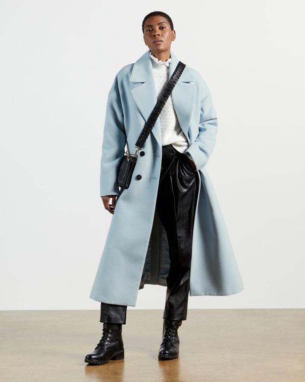 테드 베이커 코트 Ted Baker Double Breasted Longline Coat,blue