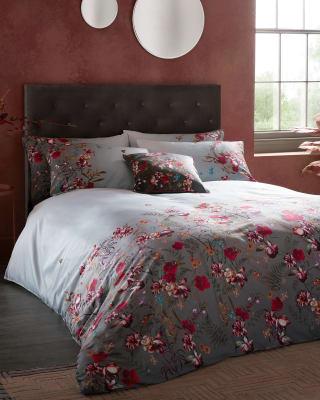 Fern Forest Cotton Double Duvet Cover, Yorkshire Linen Bedding Sets